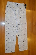 Men's Polo Ralph Lauren Sleepwear White Pajamas Pants Size: Small New With Tag!