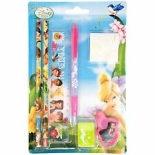 Disney Fairies Tinkerbell 7 Piece Stationery Set - Pen/Pencil/Ruler/Eraser/Notes