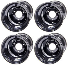 "KEIZER KARTING ALUMINUM WHEEL SET FOR ULTRAMAX KARTS,6"",KW2 BLACK COATED,DIRT"