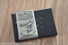 wonderful ZIPPO Zodiac Scorpio 24.10 - 22.11 wonderful heavy plate lighter new