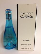 COOL WATER By DAVIDOFF For Women Perfume 3.4 OZ EDT Spray NEW W/CAP TST PACKING