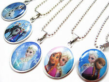 Brand New 10PCs Frozen Stainless Steel Pendant Necklaces Anna and Elsa Mixed Lot