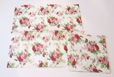 5 GERMAN VICTORIAN PINK RED ROSES FLOWERS FLORAL PRETTY DECOUPAGE PAPER NAPKINS