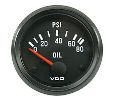 "VDO Oil Pressure Gauge 80 PSI 2 1/16"" VW Bug VW Beetle VW Dune Buggy"