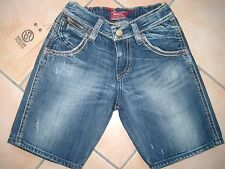 (50) Coole RARE-The Kid Boys used look Jeans Bermuda Hose mit Stickerei gr.104