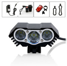 7500LM 3x CREE XML T6 LED Headlight Front Bike Bicycle HeadLamp Head tail Light