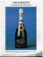 Publicité Advertising 1993 Le Champagne Demoiselle Vranken