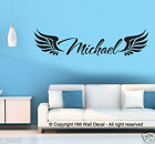 PERSONALIZE NAME & ANGEL WING DIY Removable Wall Sticker