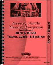 Massey Ferguson 50 Tractor & 50A Industrial Tractor Service Manual (MH-S-MF50+)