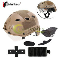Hot Military Tactical Airsoft Paintball SWAT Protective Fast Helmet With Goggle