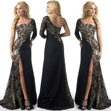Black Women Formal Wedding Bridesmaid Evening Party Ball Gown Cocktail Dress 2XL