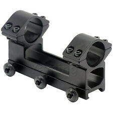 High Profile One Piece 1 inch 25.4mm Ring 20mm Rail See Through Scope Mount
