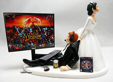 Wedding Cake Topper LOL Gamer Bride and Groom
