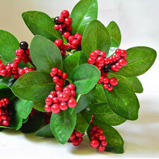 Popular Artificial Lucky Fruit Bunch Foliage Fake Plant Party Office Home Decor