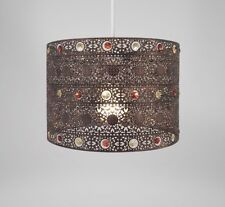 Country Club Antique Bronze 25cm Moroccan Gem Ceiling Light Shade Lamp Lampshade