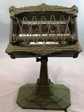 Elaborate Antique Art Deco Bronze Metal Electric Heater Heetaire Markel Neo-Glo