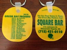 2010 Green Bay Packers Schedule Keychain Key Ring ~ SQUARE BAR WI RAPIDS, WI