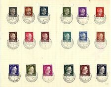 DR Dienstpost Mi.Nr. 1 - 18 Ostland Tagesstempel Birsen / Tilsit Litauen 1943