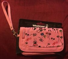 VIVIENNE WESTWOOD COMPACT MIRROR MIRRORED CLUTCH BAG PURSE WALLET FLOWERS PINK