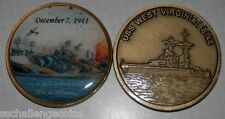 USS West Virginia BB 48 Challenge Coin Pearl Harbor WWII Day of Infamy Torpedo