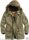 SURPLUS TROOPER SUPREME WARM WINTER PARKA MENS HOODED LONG JACKET OLIVE S-XXL