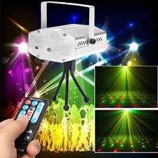 UK Plug R&G Voice Xmas DJ Disco Party LED Laser Stage Light Projector + Remote