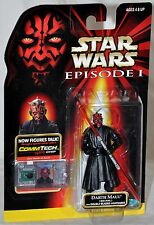 Star Wars 1998 EP1 Darth Maul Jedi Duel & Double Bladed Lightsaber MOC CommTech