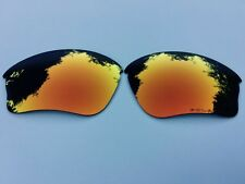 NEW POLARISED FIRE RED MIRRORED REPLACEMENT OAKLEY HALF JACKET XLJ LENSES