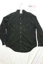 Camicia levi's western nero boyfriend (Cod.CM305) Tg XL Uomo usato jeans