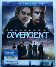 NEW DIVERGENT BLU RAY + DVD 2 DISC SET DIGIBOOK WALMART EXCLUSIVE FREE SHIPPING
