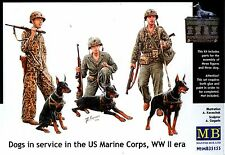 Master Box MB 1/35 35155 WWII US Marine Corps with Dog in Serivce