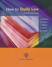 Anthony Bradney, F. Cownie, J. Masson, A. Neal, D. Newell How to Study Law Very