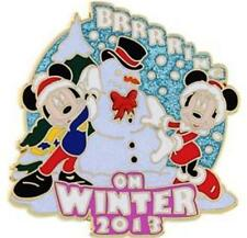 MICKEY & MINNIE Holiday WINTER SNOWMAN  BRRRRING ON SNOW 2013 LE 2000 Disney PIN