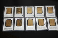 WOW! CREDIT SUISSE 1 OZ. FINE .999 GOLD BARS IN ASSAY CERTIFICATE! BEAUTIFUL!