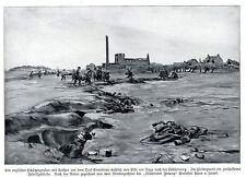 Kriegsmaler * War Artist * HANS v. HAYEK Schützengraben vor Ennetieres 1915