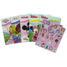 Disney Junior Activity Time Set Story Book Colouring Stickers Sofia Minnie Mouse
