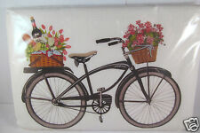 Mary Lake Thompson One Flour Sack Kitchen Towel Bicycle of Flowers & Wine New