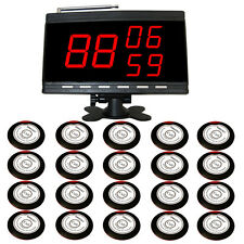 SINGCALL Wireless waiter Service Calling pager Systems,20 Table Bells 1 receiver