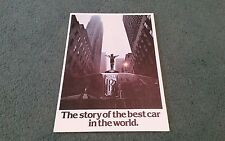 1980 ROLLS ROYCE BROCHURE THE STORY OF THE BEST CAR IN THE WORLD Silver Spirit