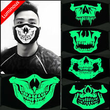 Luminous Glow Anti-dust Cotton Mouth Face Mask Teeth Mouth-muffle Halloween
