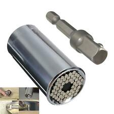 2Pcs 7-19mm Gator Grip Universal Socket Wrench w/ Power Drill Adapter Tool New