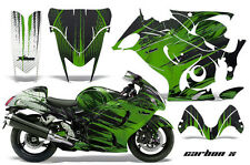 Amr Racing Graphic Kit Suzuki GSXR 1300 Hayabusa GSX Busa Bike Decal Wrap CARBON
