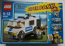 LEGO CITY 66363 SUPER PACK POLICE 4 EN 1 NEUF SOUS BLISTER 7245+7235+7236+7741
