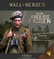 RP Models Major Anders Lassen WW2 Unpainted 1/9th scale bust kit Ltd Edition