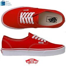 Vans Authentic Red Classic shoes USA WOMEN SIZE 11.5