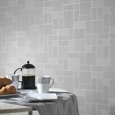 Grey Glitter Tile Wallpaper Kitchen and Bathroom Tiling on a Roll 89243