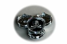 4 x 60mm Punisher mag wheel caps AUDI Alfa Toyota VW Nissan Ford
