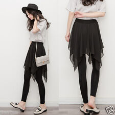 Korean Women Chiffon Skirt Cotton Elasticity Leggings Anomaly Skirt Pants Dress