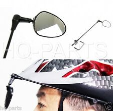 Bicycle Bike Safe Rear View Riding Helmet Mirror Third Eye Black 360 Adjustable