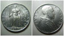 Citta' del Vaticano Pio XII 5 Lire 1952 fdc/unc KM 51.1